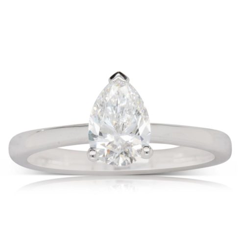1.5ct Pear Solitaire Moissanite Ring South Africa