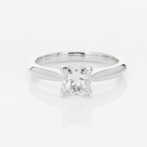 1.00ct Princess Cut Moissanite Solitaire Ring South Africa