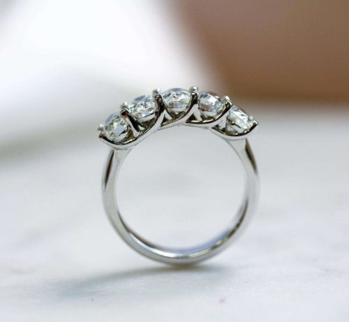 Five Stone Oval Moissanite Band South Africa