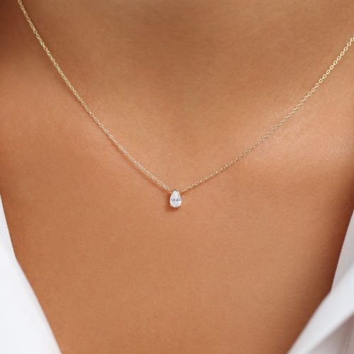 Pear Moissanite Solitaire Necklace South Africa