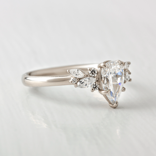 9x6mm Pear Cut Moissanite Engagement Ring South Africa