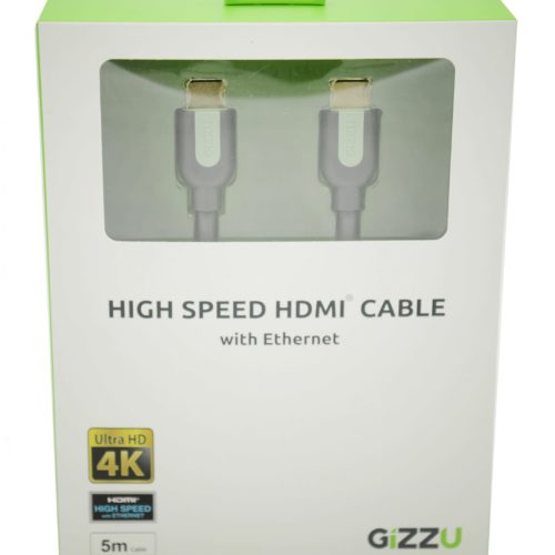 GIZZU High Speed V2.0 HDMI 5m Cable with Ethernet