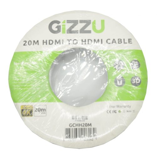 GIZZU High Speed V1.4 HDMI 20m Cable with Ethernet