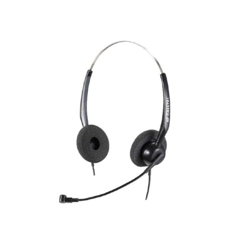 Calltel H550 Stereo-Ear Noise-Cancelling Headset + UC2000T Quick Disconnect USB Sound Card Adapter Cable