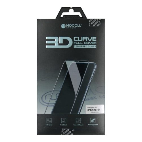 Mocoll 3D Tempered Glass Full Cover Screen Protector for iPhone 11 - Black