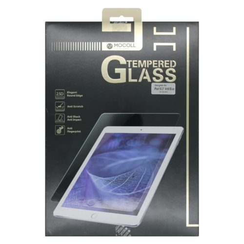 Mocoll 2.5D Tempered Glass Full Cover Blue Light Filter Screen Protector for iPad 10.2 - Clear