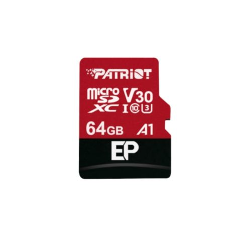 Patriot EP V30 A1 64GB Micro SDXC Card + Adapter