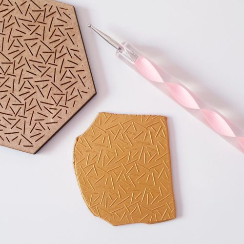 EMBOSSING TEXTURE PLATE - CONFETTI PATTERN