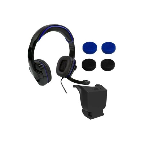 SPARKFOX PlayStation 4 Headset High-Capacity Battery 3m Braided Cable Thumb Grip Core Gamer Combo