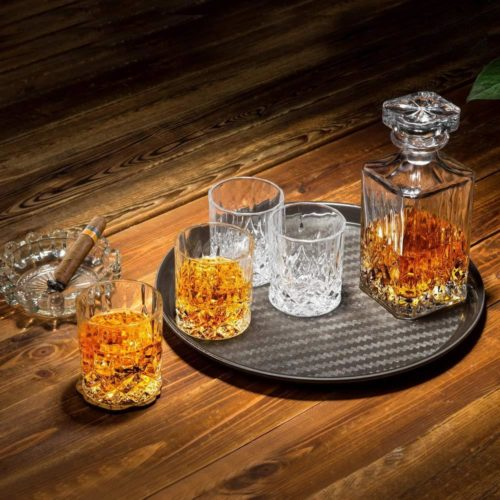 Whiskey Decanter with glasses set